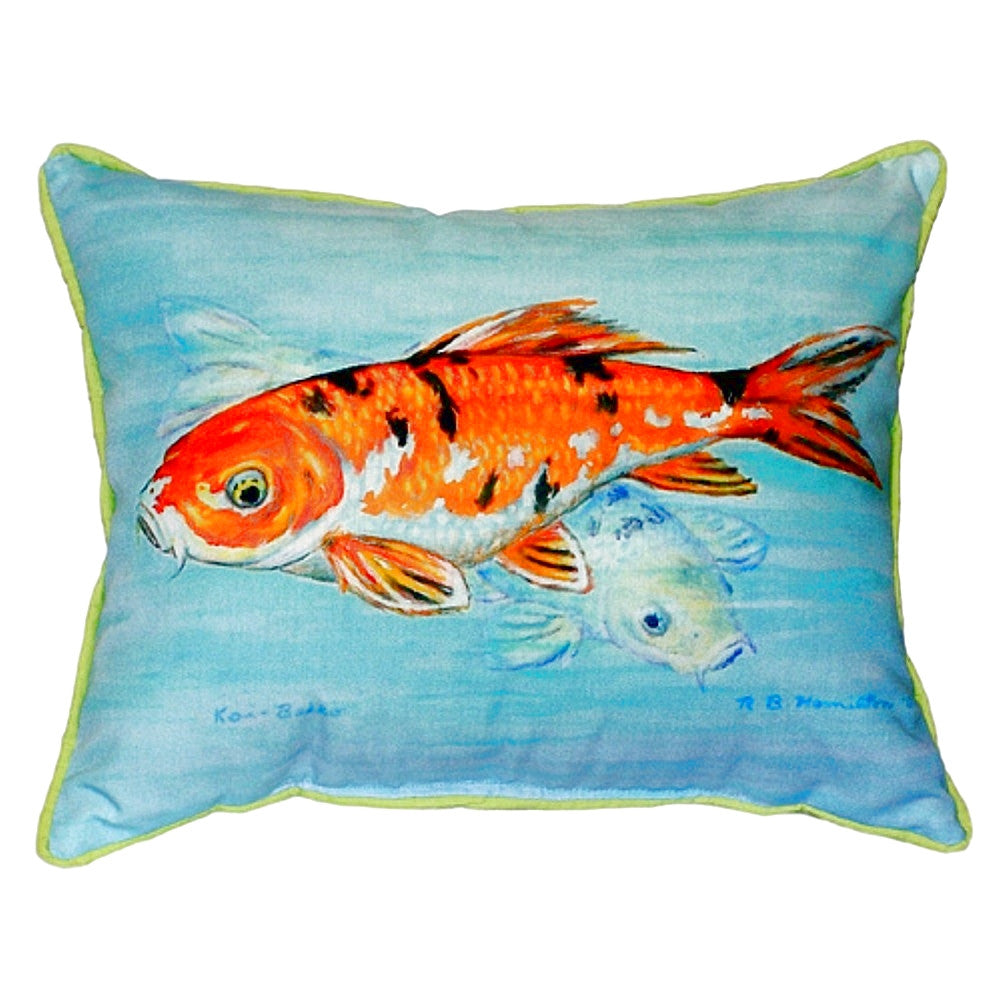 Koi Extra Large Zippered Indoor or Outdoor Pillow 20x24