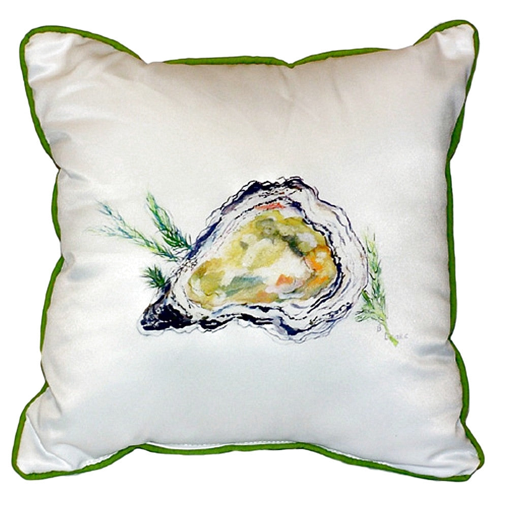 Oyster Extra Large Zippered Indoor or Outdoor Pillow 22x22