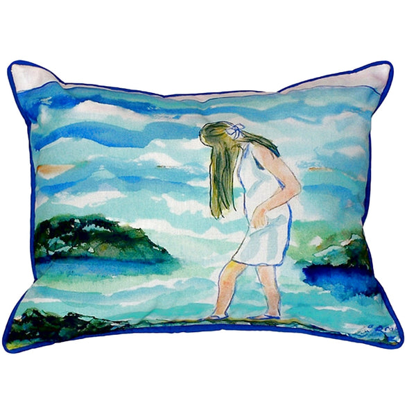 Mia on the Rocks Extra Large Zippered Indoor or Outdoor Pillow 20x24