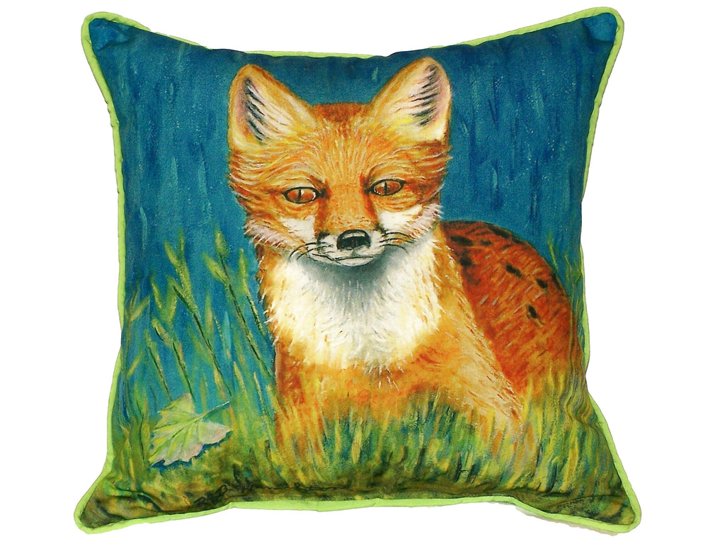 Red Fox Extra Large Zippered Indoor or Outdoor Pillow 22x22