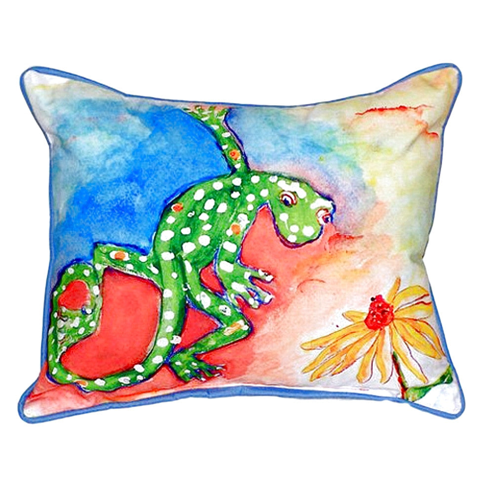 Gecko Extra Large Zippered Indoor or Outdoor Pillow 20x24