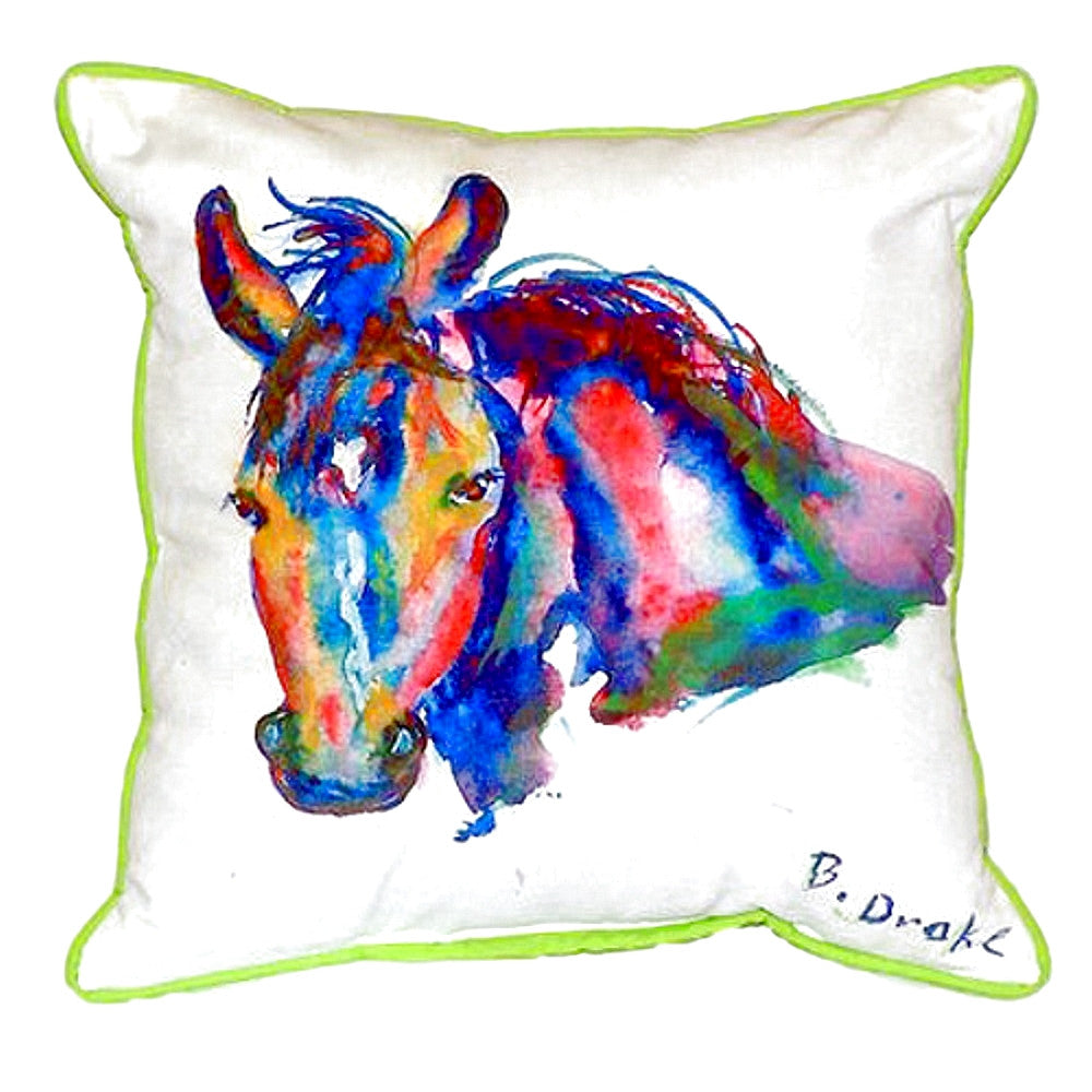 Nellie - Horse Extra Large Zippered Indoor or Outdoor Pillow 20x24