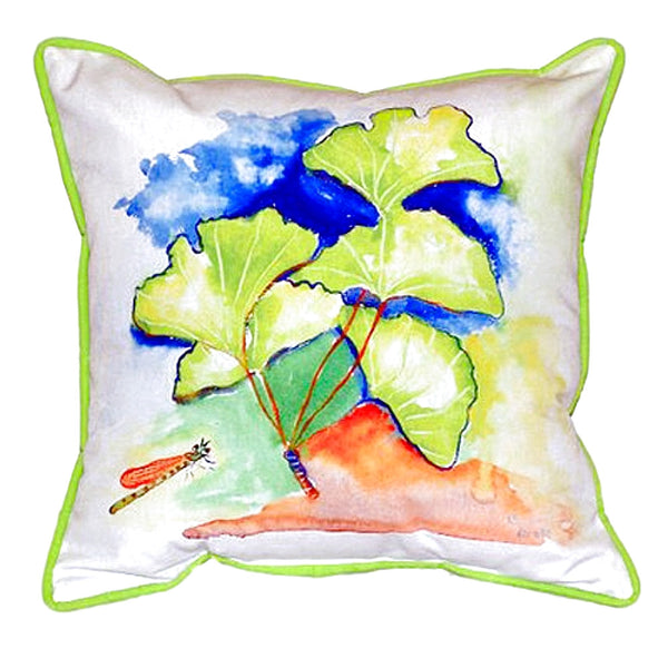 Ginko Leaves Extra Large Zippered Indoor or Outdoor Pillow 22x22