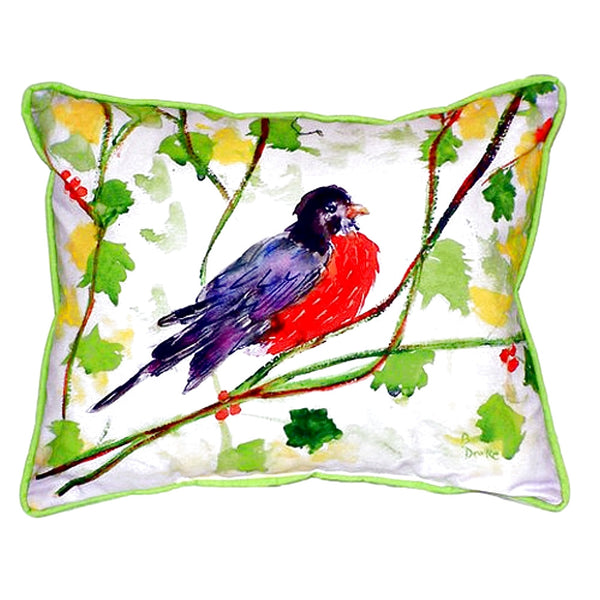 Robin Extra Large Zippered Indoor or Outdoor Pillow 20x24