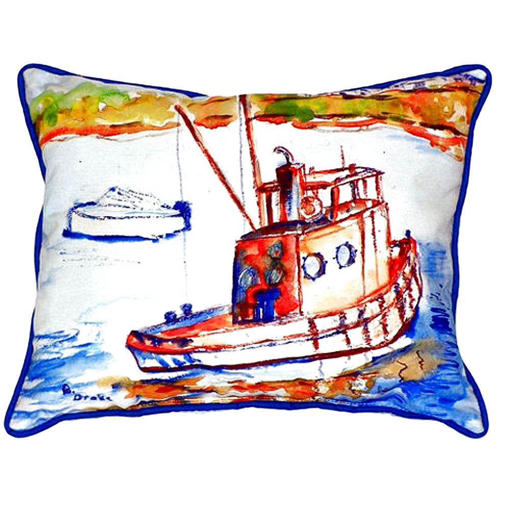 Rusty Boat Extra Large Zippered Indoor or Outdoor Pillow 20x24