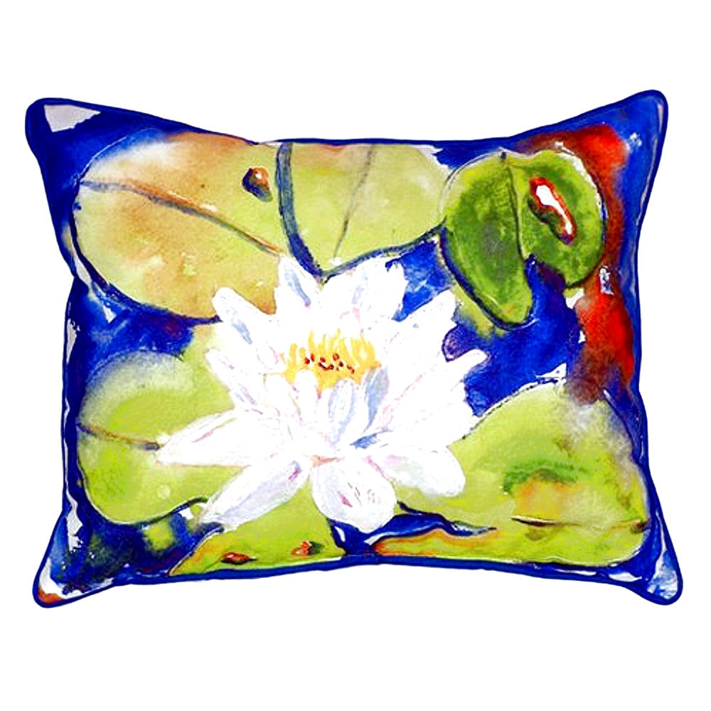 Lily Pad Flower Extra Large Zippered Indoor or Outdoor Pillow 20x24