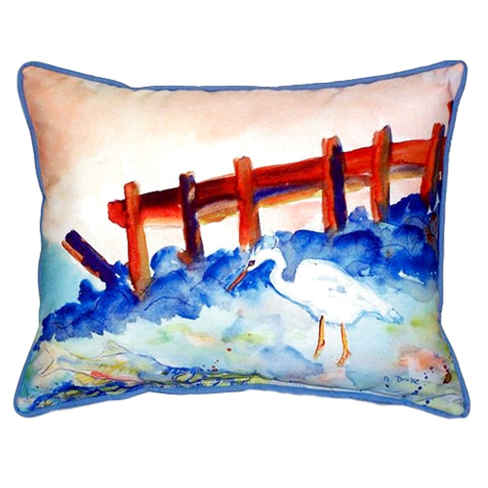 Great White Heron Extra Large Zippered Indoor or Outdoor Pillow 20x24
