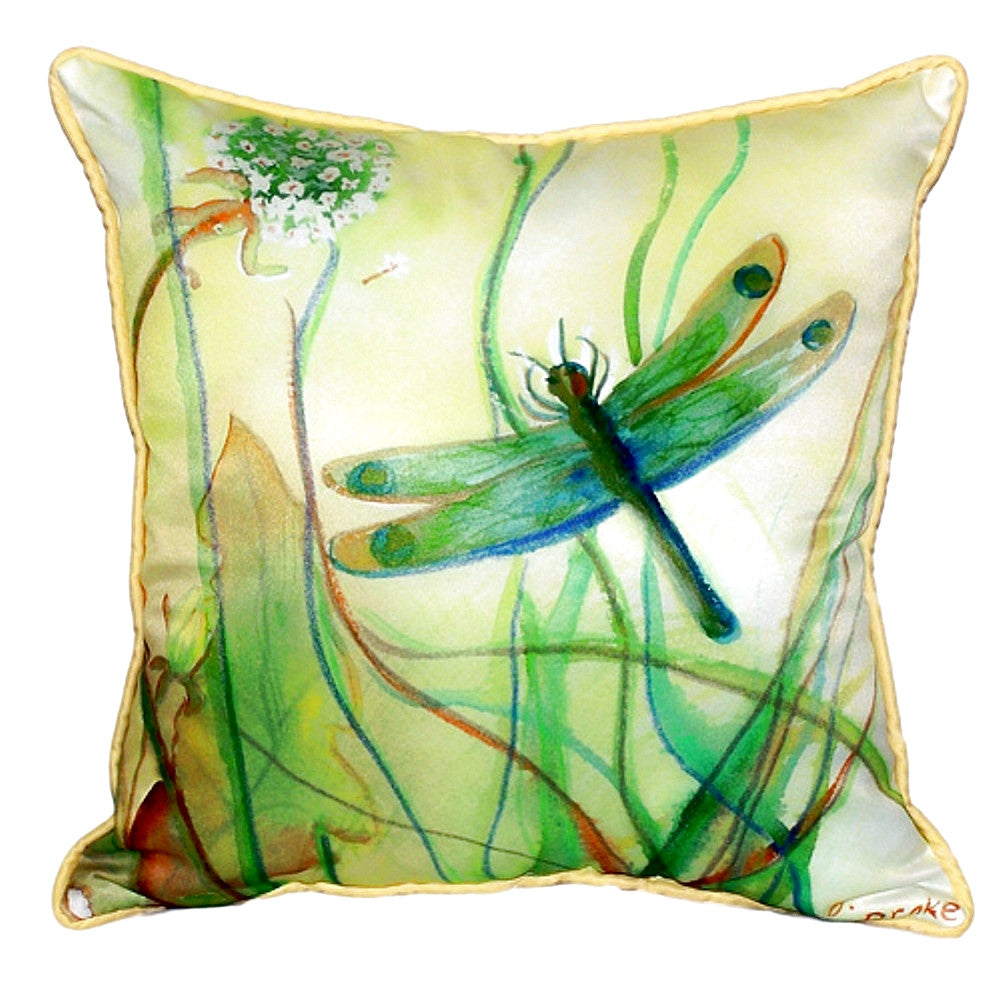 Dragonfly Extra Large Zippered Indoor or Outdoor Pillow 22x22