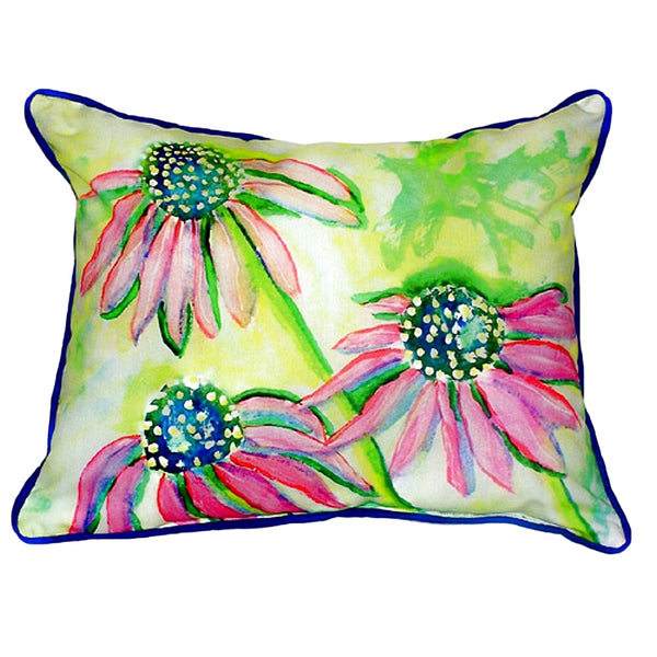 Cone Flowers Extra Large Zippered Indoor or Outdoor Pillow