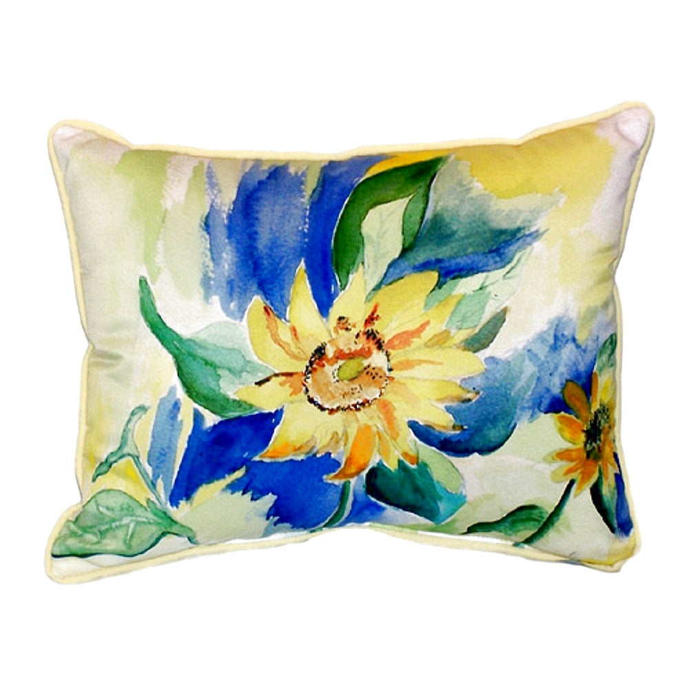 Sunflower Extra Large Zippered Indoor or Outdoor Pillow 20x24