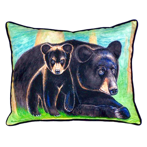 Bear & Cub Extra Large Zippered Indoor or Outdoor Pillow 20x24