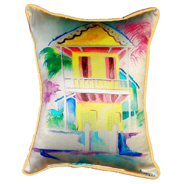 W. Palm Hut Yellow Extra Large Zippered Indoor or Outdoor Pillow 20x24