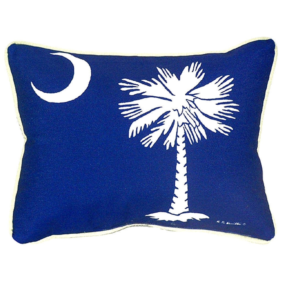 Palmetto Moon Extra Large Zippered Indoor or Outdoor Pillow 20x24