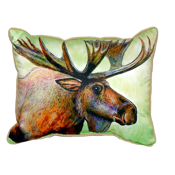 Moose Extra Large Zippered Indoor or Outdoor Pillow 20x24