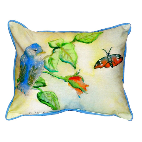 Blue Bird Extra Large Zippered Indoor or Outdoor Pillow 20x24
