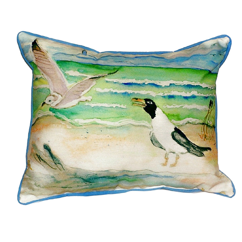 Seagulls Extra Large Zippered Indoor or Outdoor Pillow 20x24