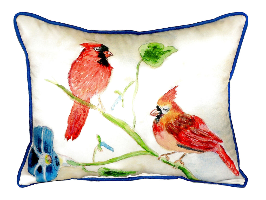 Cardinals Extra Large Zippered Indoor or Outdoor Pillow 20x24