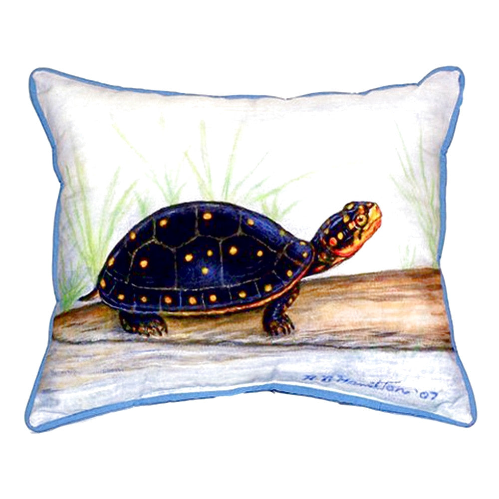 Spotted Turtle Extra Large Zippered Indoor or Outdoor Pillow 20x24