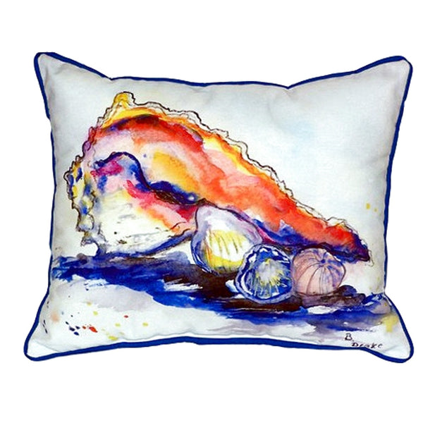 Conch Extra Large Zippered Indoor or Outdoor Pillow 20x24
