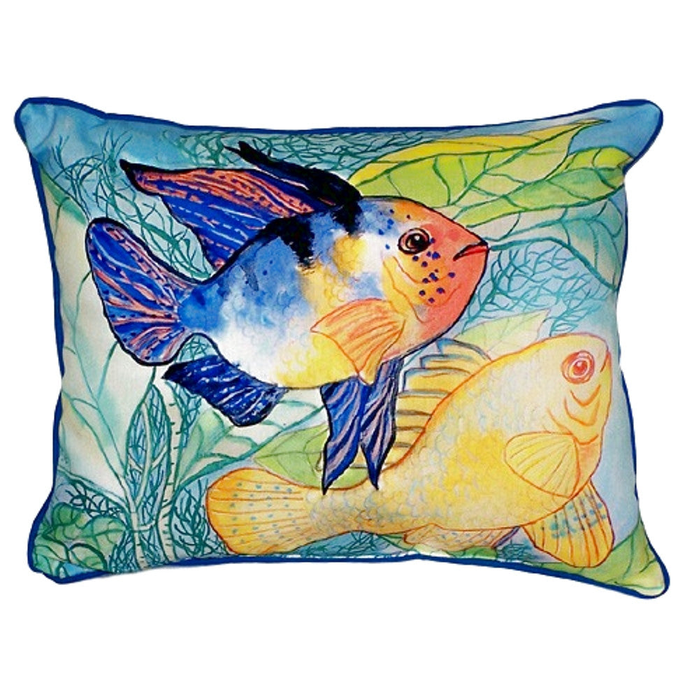 Two Fish Extra Large Zippered Indoor or Outdoor Pillow