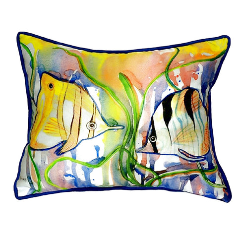Angel Fish Extra Large Zippered Indoor or Outdoor Pillow 20x24