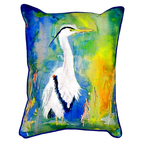 Blue Heron Extra Large Zippered Indoor or Outdoor Pillow