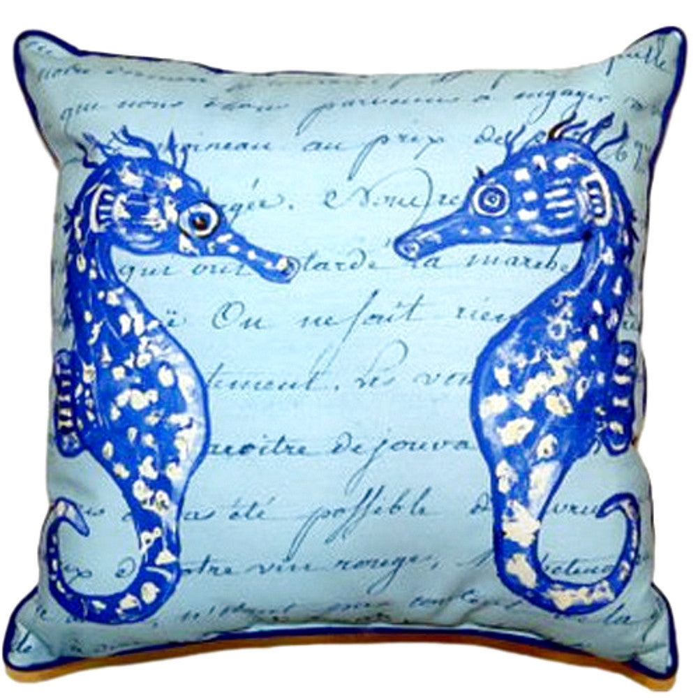 Blue Sea Turtles Extra Large Zippered Indoor or Outdoor Pillow 22x22