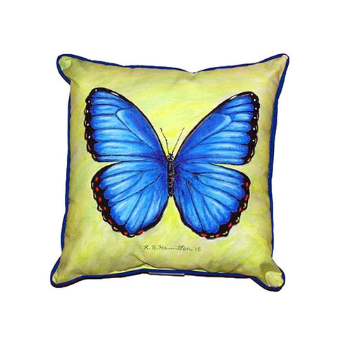 Blue Morpho Extra Large Zippered Indoor or Outdoor Pillow 22x22