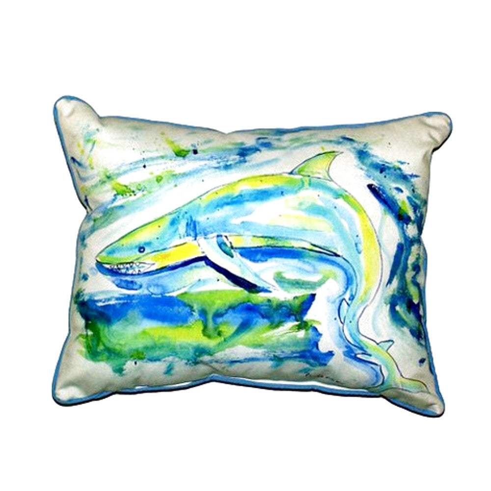 Green Shark Extra Large Zippered Indoor or Outdoor Pillow 20x24