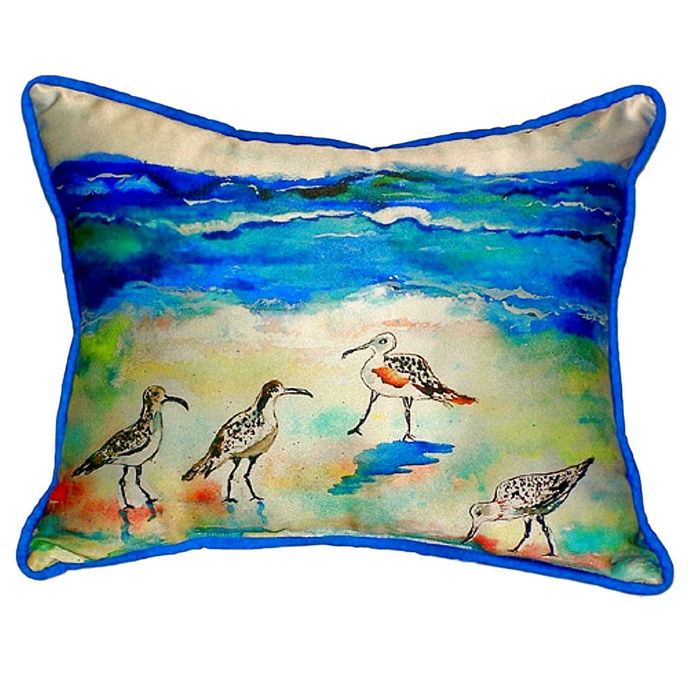 Sandpipers Extra Large Zippered Indoor or Outdoor Pillow 20x24