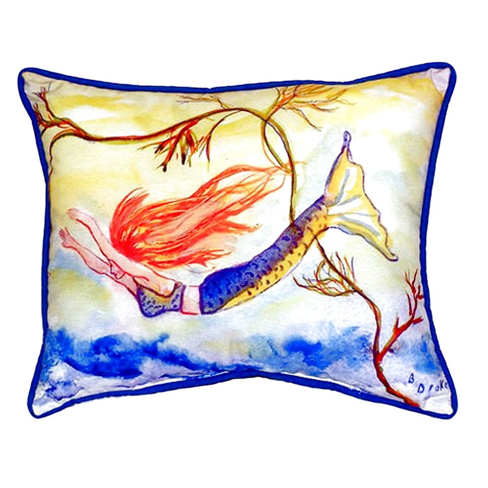 Diving Mermaid Extra Large Zippered Indoor or Outdoor Pillow 20x24