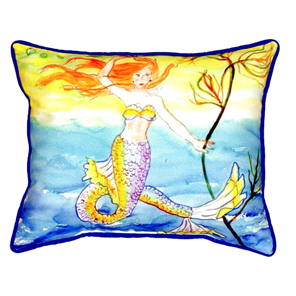 Mermaid Extra Large Zippered Indoor or Outdoor Pillow 20x24