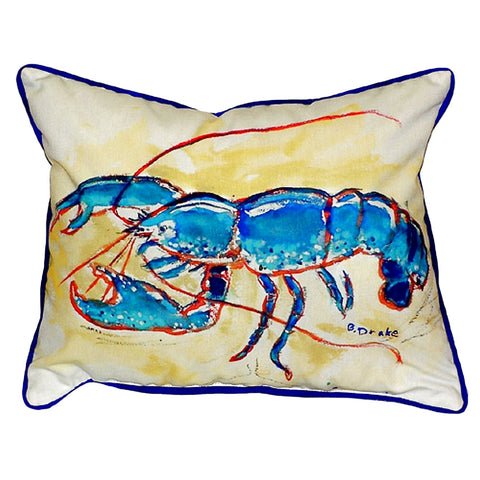 Blue Lobster Extra Large Zippered Indoor or Outdoor Pillow 20x24