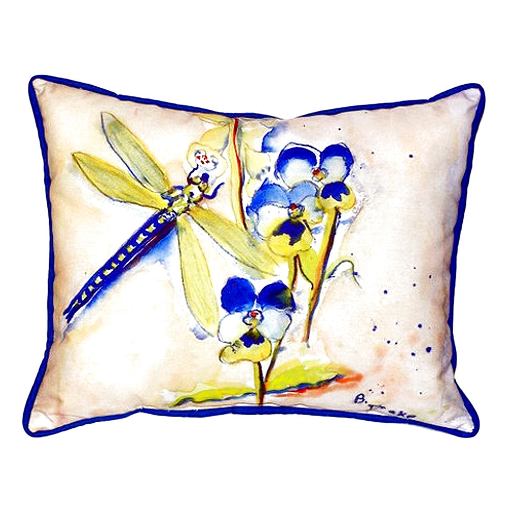 Blue Dragonfly Extra Large Zippered Indoor or Outdoor Pillow 20x24