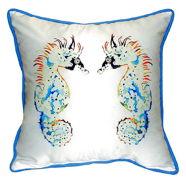 Seahorses Extra Large Zippered Indoor or Outdoor Pillow 22x22