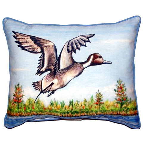 Pintail Duck Extra Large Zippered Indoor or Outdoor Pillow 20x24