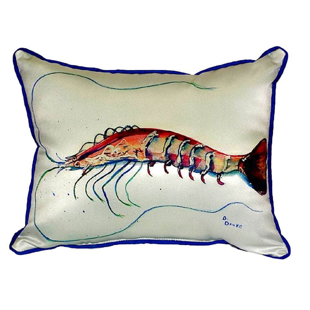 Shrimp Extra Large Zippered Indoor or Outdoor Pillow 20x24