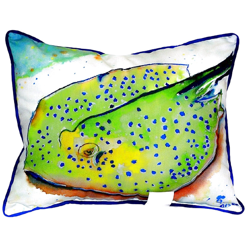 Stingray Extra Large Zippered Indoor or Outdoor Pillow 20x24