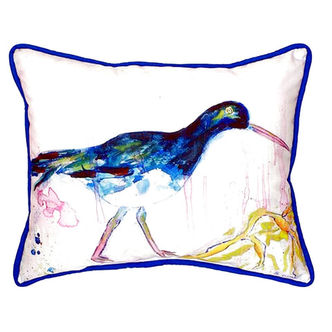Black Shore Bird Extra Large Zippered Indoor or Outdoor Pillow 20x24