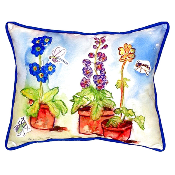 Potted Flowers Extra Large Zippered Indoor or Outdoor Pillow 20x24