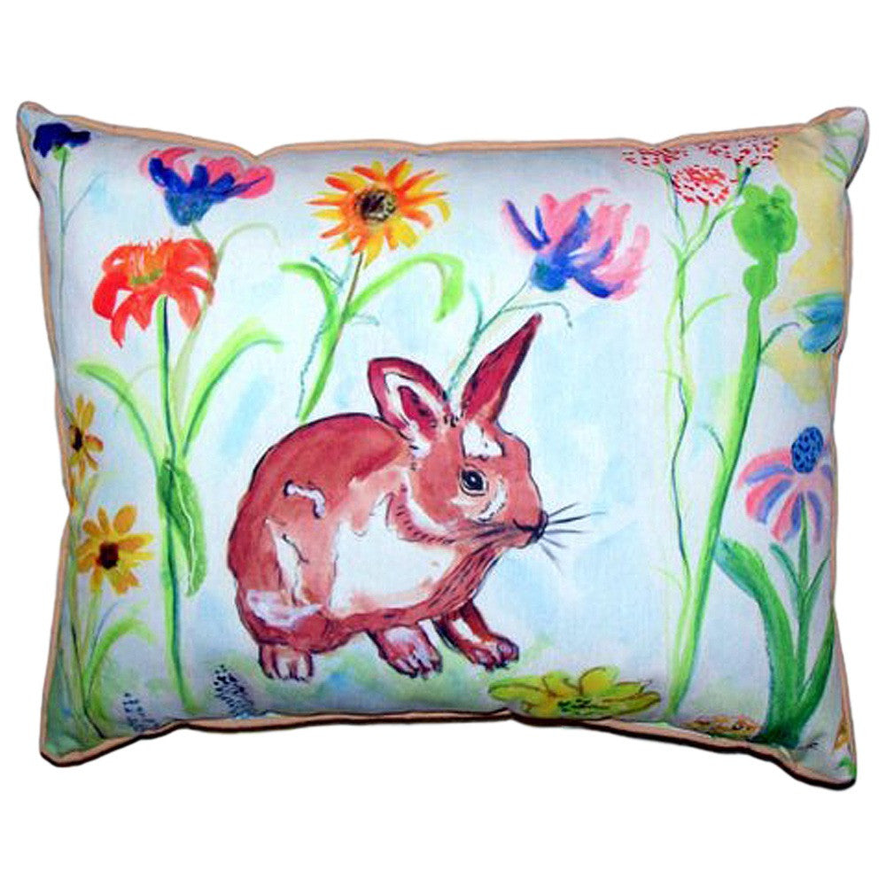 Whiskers Bunny Extra Large Zippered Indoor or Outdoor Pillow 20x24