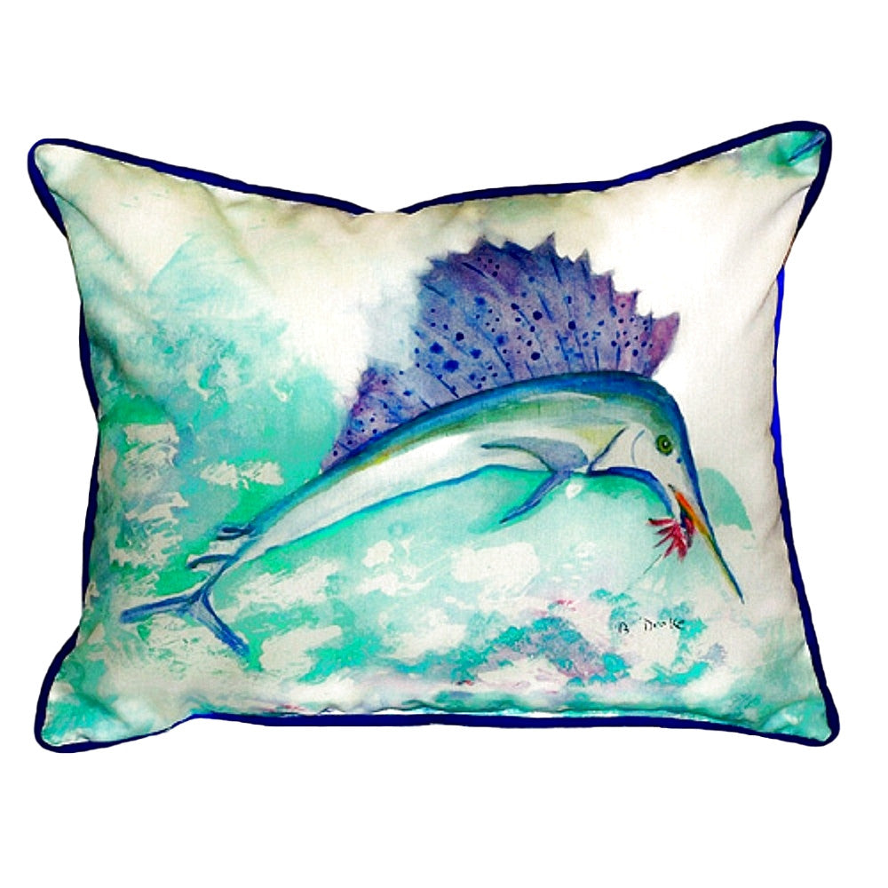 Sailfish Extra Large Zippered Indoor or Outdoor Pillow 20x24