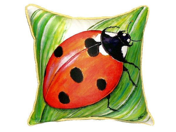 Ladybug Extra Large Zippered Indoor or Outdoor Pillow 22x22