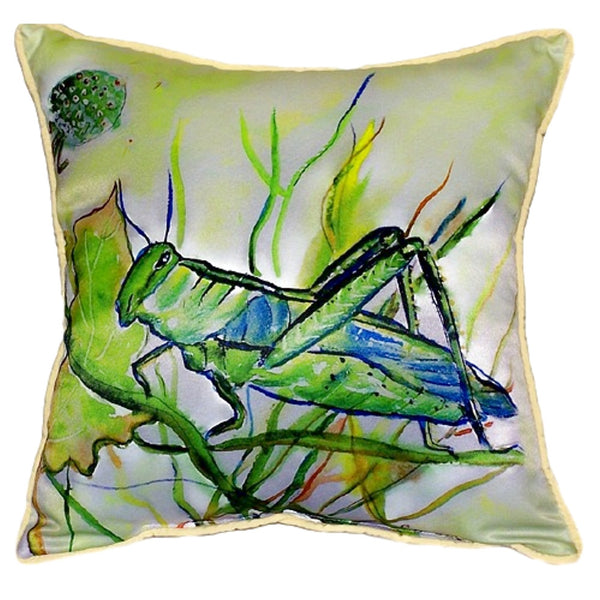 Grasshopper Extra Large Zippered Indoor or Outdoor Pillow 22x22