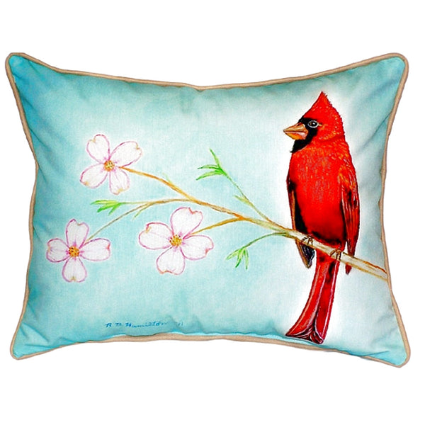 Cardinal Extra Large Zippered Indoor or Outdoor Pillow 20x24