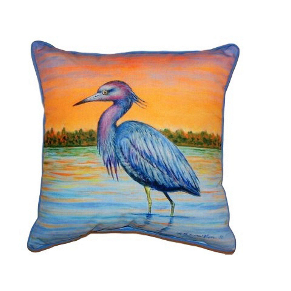 Heron & Sunset Extra Large Zippered Indoor or Outdoor Pillow 22x22