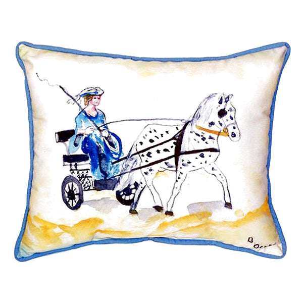 Carriage & Horse Extra Large Zippered Indoor or Outdoor Pillow 20x24