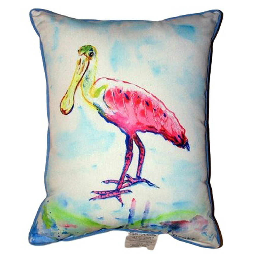 Pink Spoonbill Extra Large Zippered Indoor or Outdoor Pillow