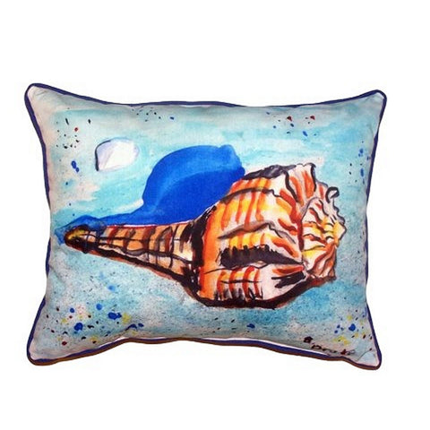 Amber Shell Extra Large Zippered Indoor or Outdoor Pillow 20x24