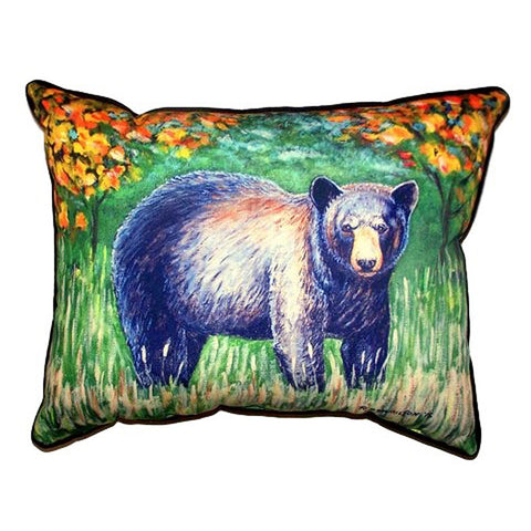 Black Bear Extra Large Zippered Indoor or Outdoor Pillow